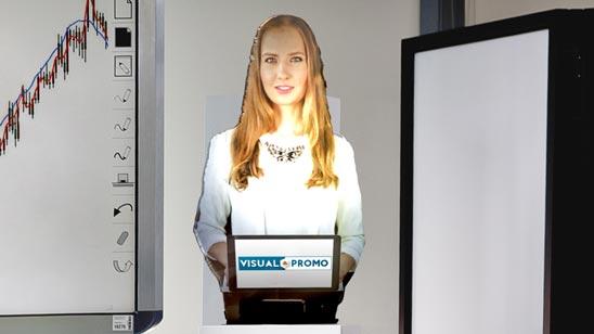 Holohostess, wirtualna hostessa, avatar, wirtualna asystentka,