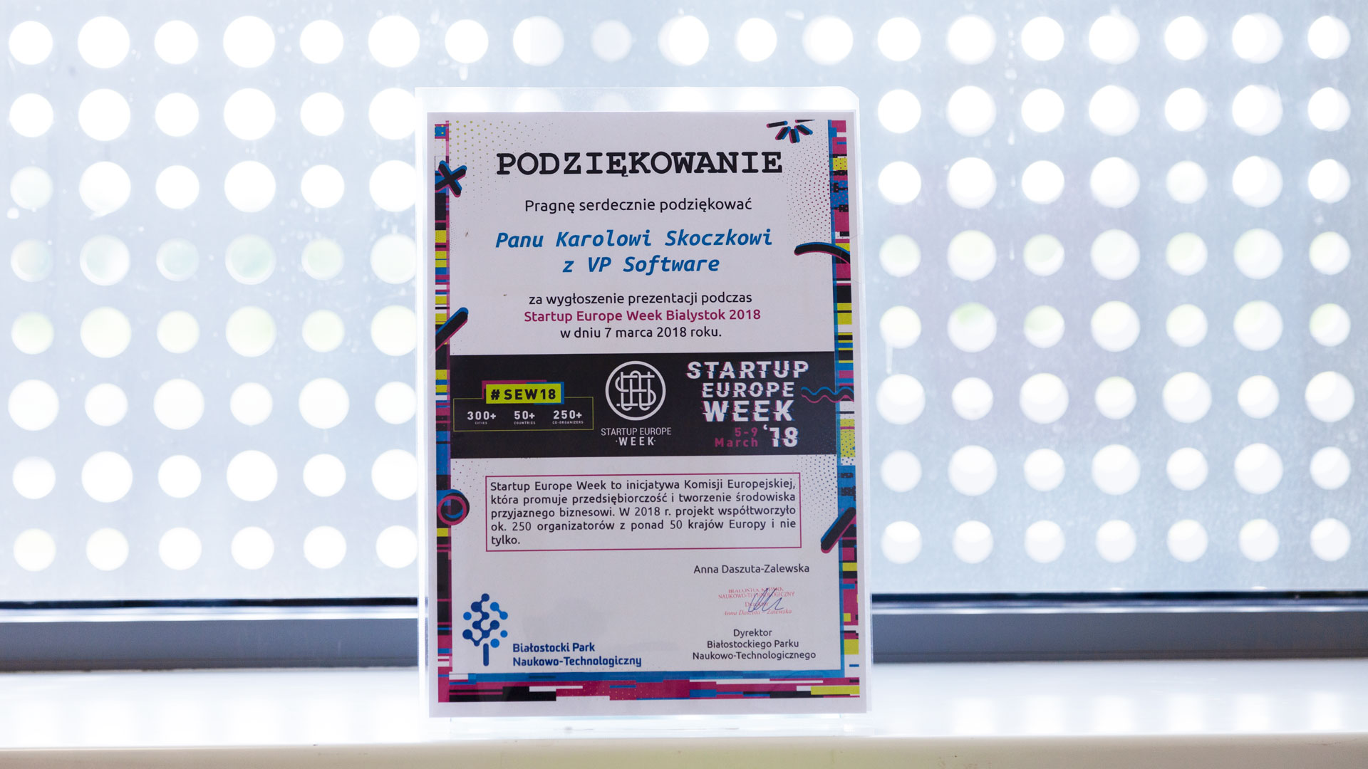 Startup Europe week, wyróżnienie, nagroda, vpsoftware